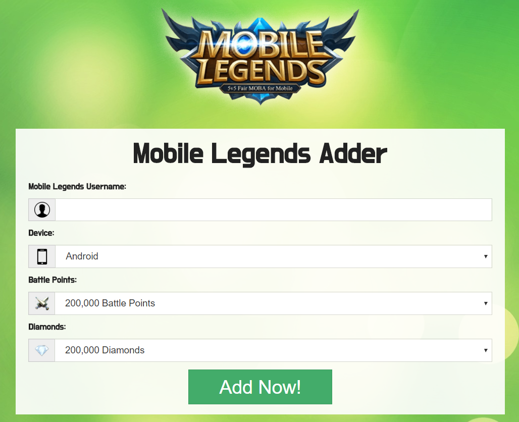 Mobile Legends Hack - Free Get Free Diamonds Android and I