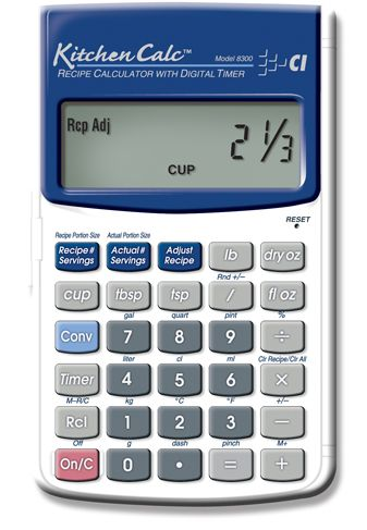 KitchenCalc Specialty Culinary Calculators Calculated