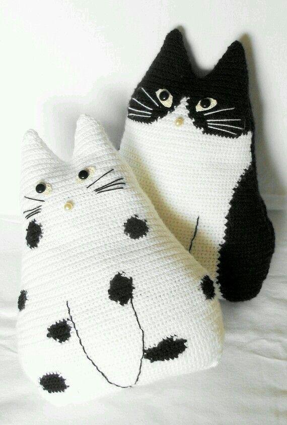 Cara gato | jrv | Pinterest | Gato, Tejido y Juguetes