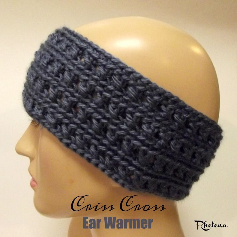 Crochet Ear Warmer Pattern Criss Cross Crochet Pinterest