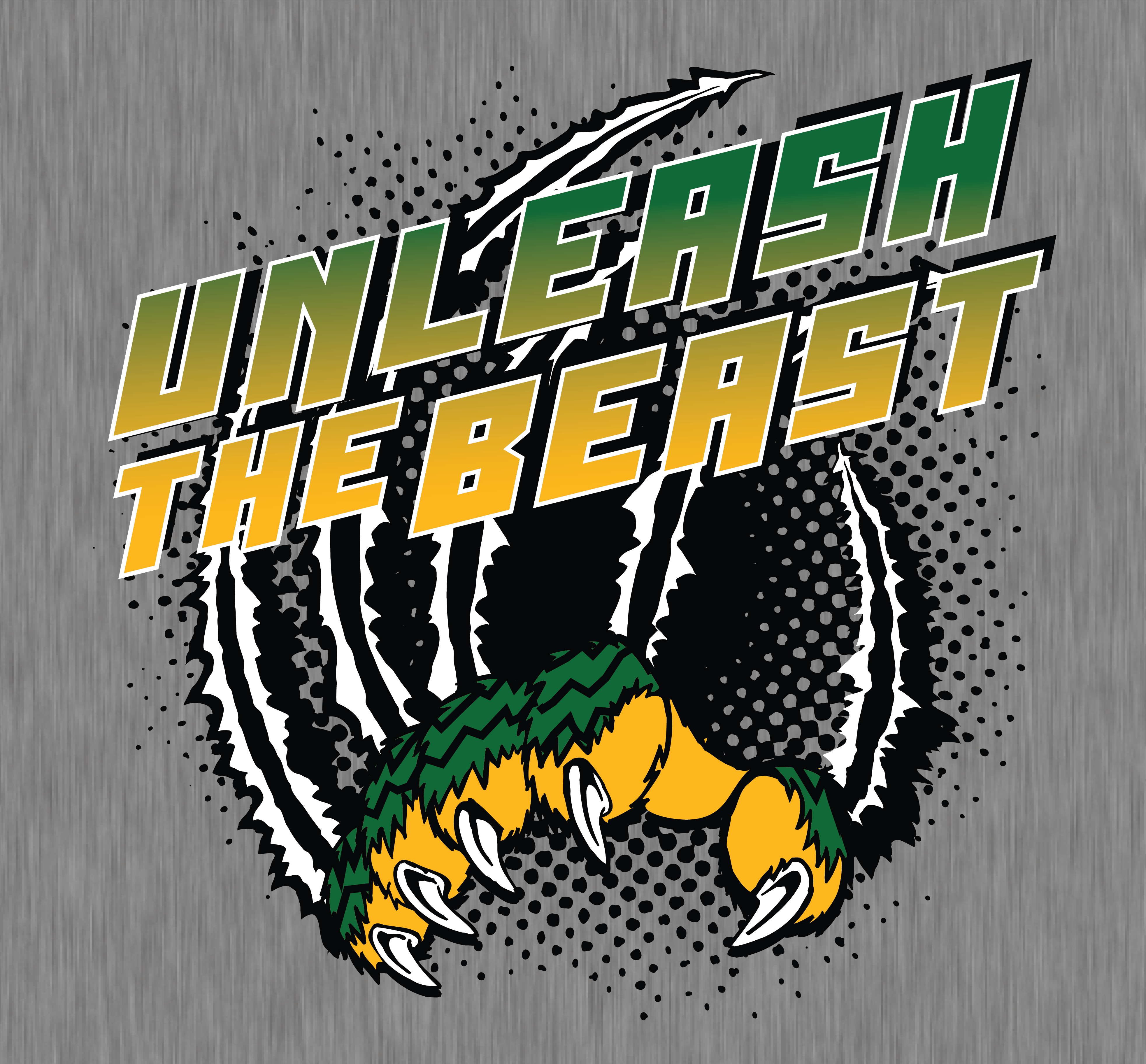 Unleash the Beast || KEN YOUNG CO || green and gold, tiger mascot ...