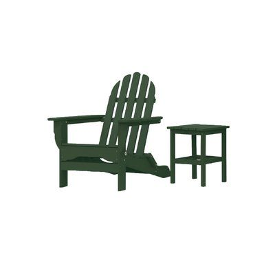 Rosecliff Heights Mackey Plastic Folding Adirondack Chair With