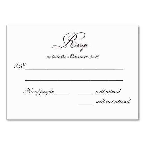 Doc Rsvp Card Template Word Wedding Invitation You Are Here Home