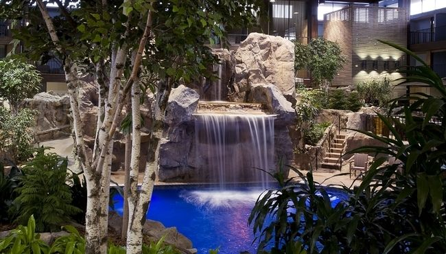 Waterfall Pool Dream Home Pinterest