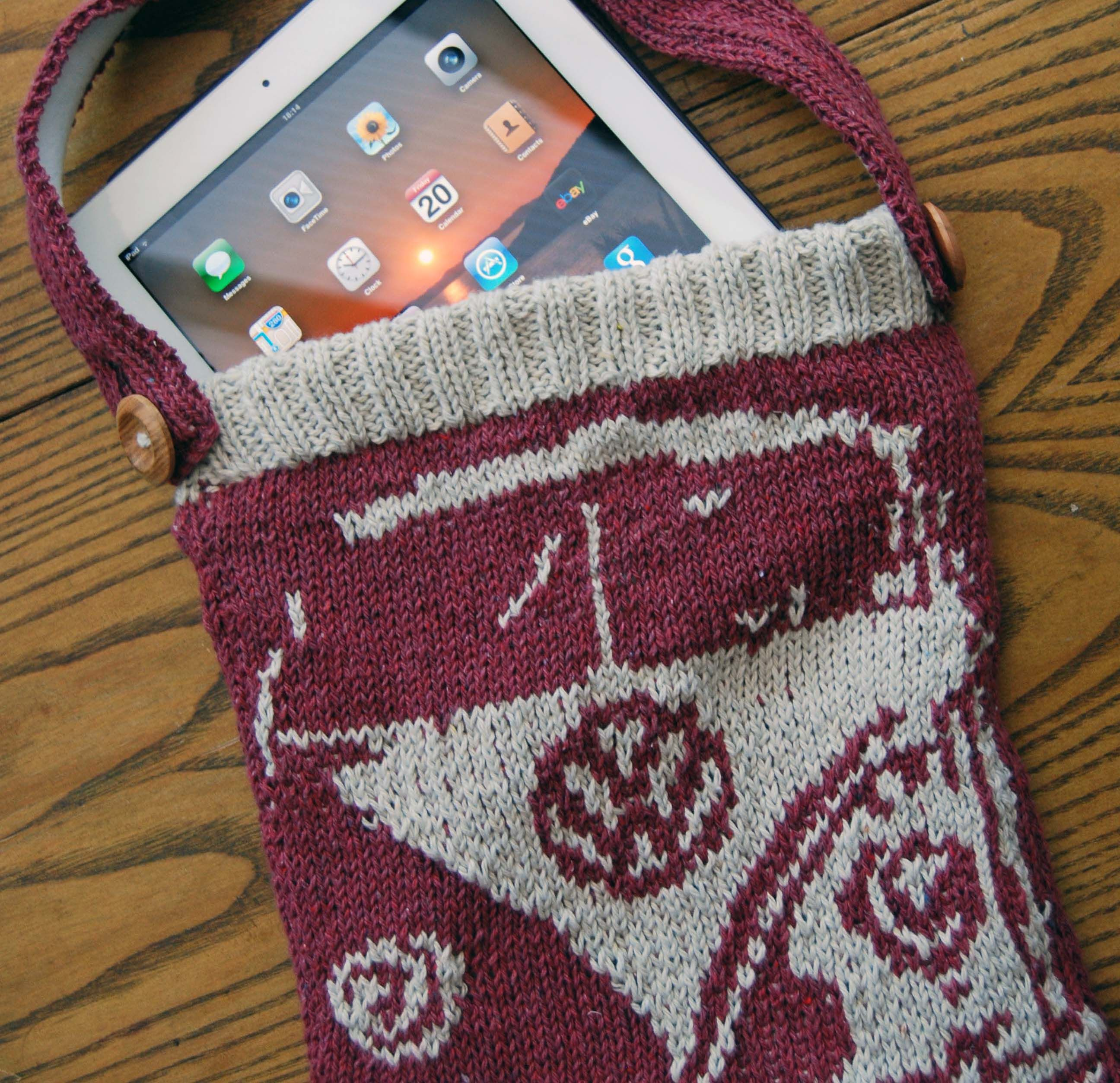 Splitty-Bag-with-ipad-square-image.jpg 2,592×2,507 pixels | Knitting ...