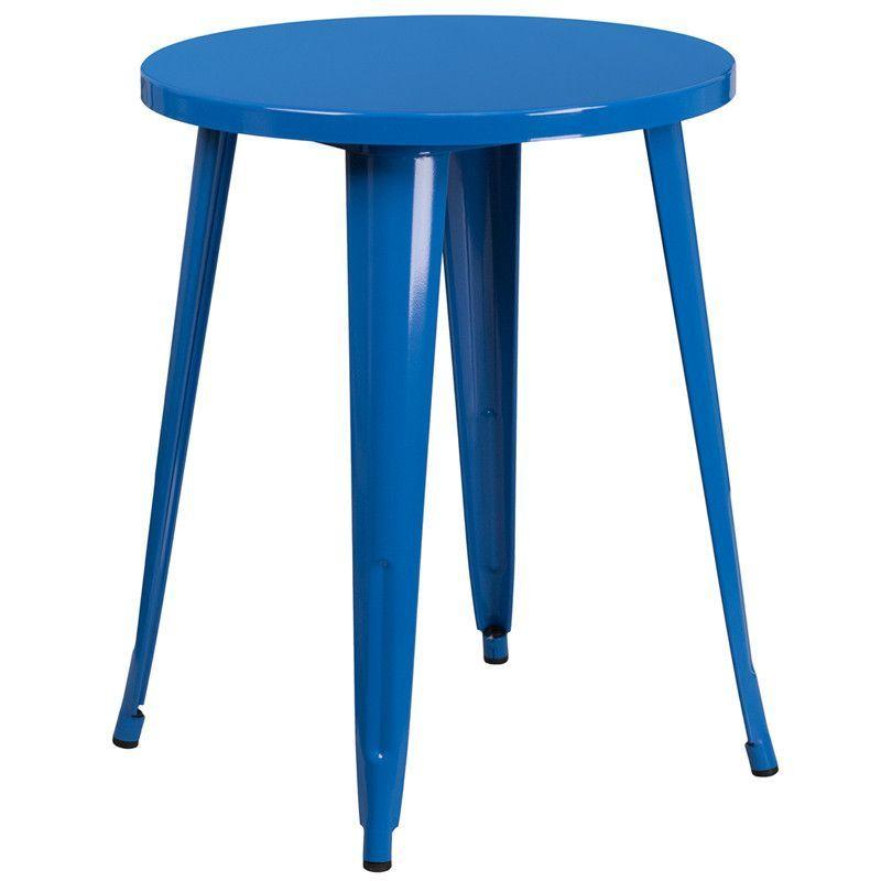 24'' Round Metal Indoor-Outdoor Table