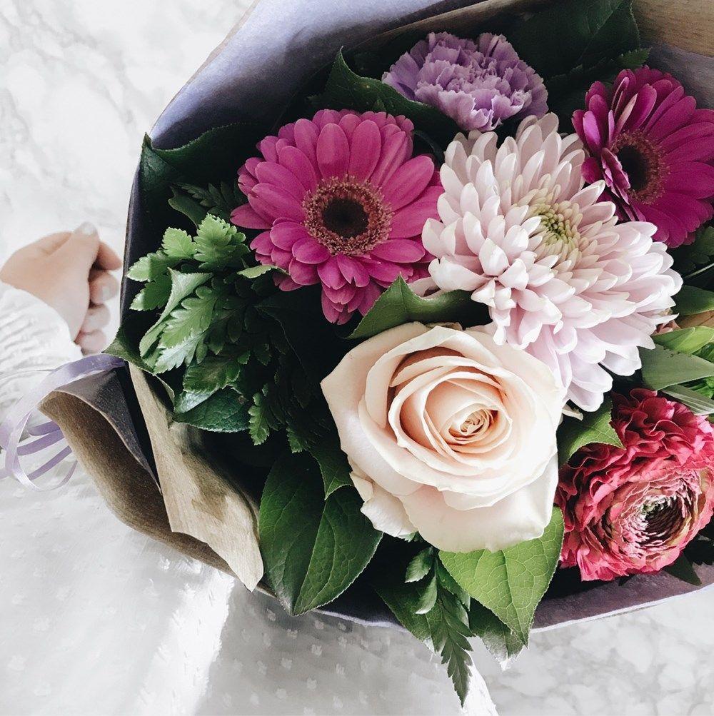 My Birthday Johanne Appel Birthday Flowers Pink Roses White