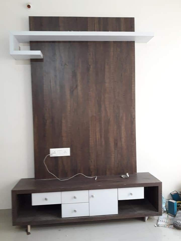 Lcd Tv Furnitures Designs Ideas: #LCD Small LCD Panel Brown And White Combination Its 42