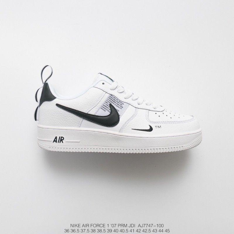Nike Air Force 1 Black White Tick,Nike Air Force 1 White Black Tick,FSR Lichee Pattern Seat Strap Design ️ Nike Air Force 1 07