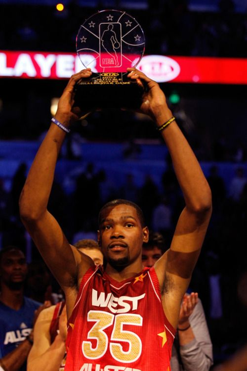 adf02638381 NBA All Star Game 2012 MVP Kevin Durant