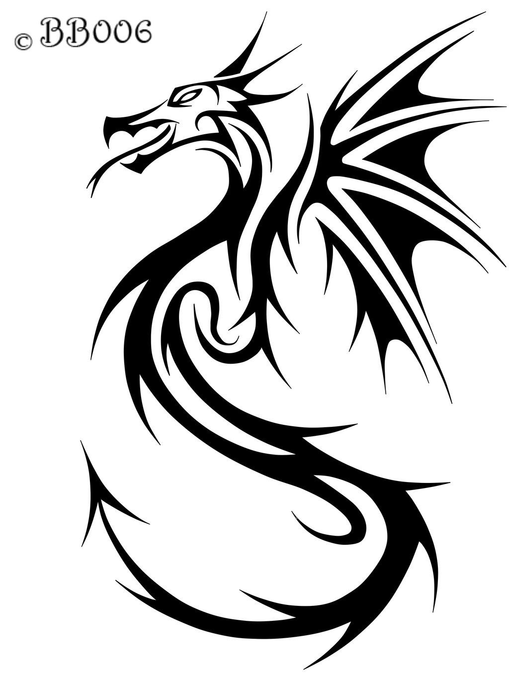 dragon Tribal dragon tattoos, Tribal dragon tattoo