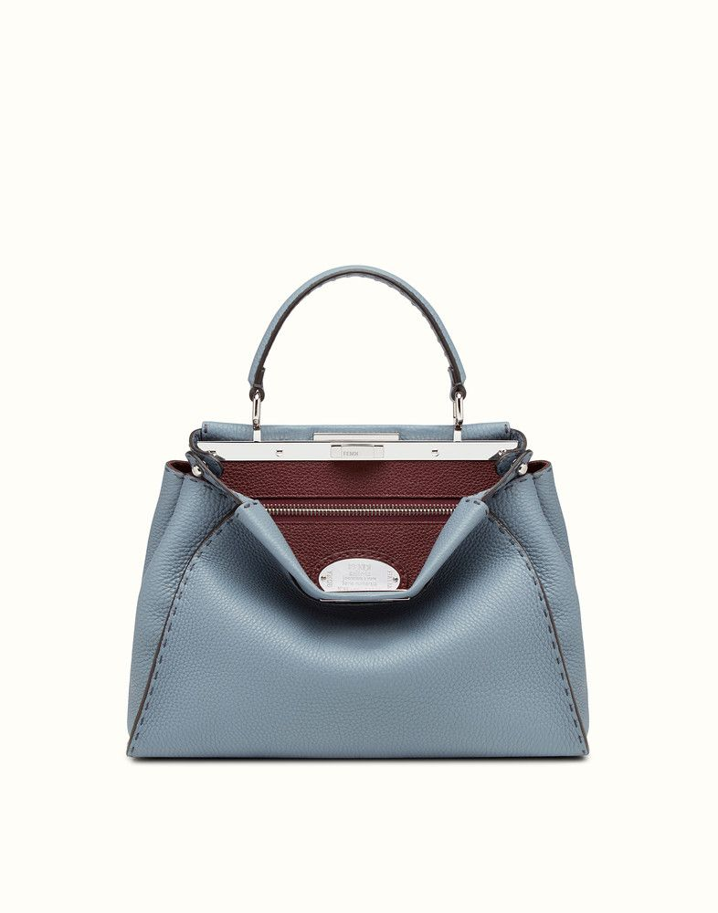 2356900b96 Fendi regular peekaboo cerulean blue Selleria handbag  ad