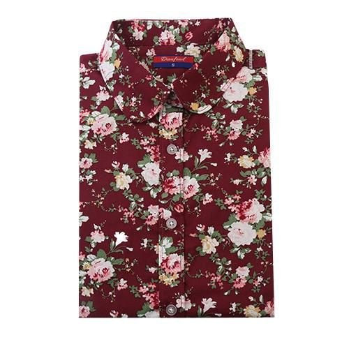 Women's Floral Long Sleeve Blouse