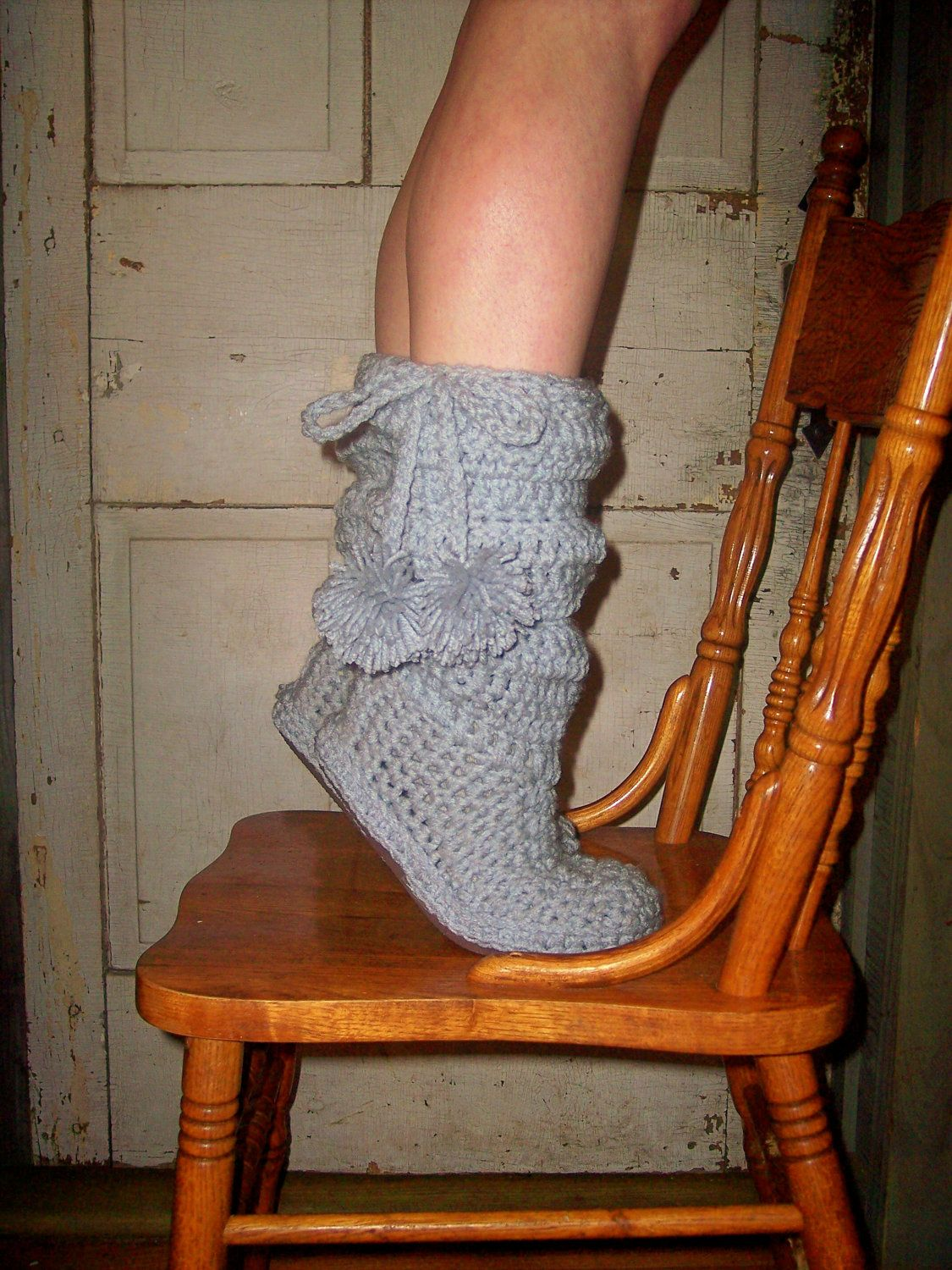 Crochet Boots Pattern---- Slouch Boots----------- style number 2 ...