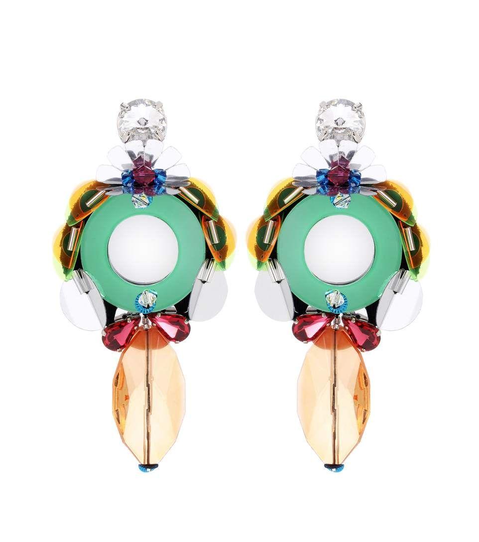 Boucles D'oreilles Agrémentées - Miu Miu Multicouleur 7RvtPasO6Q