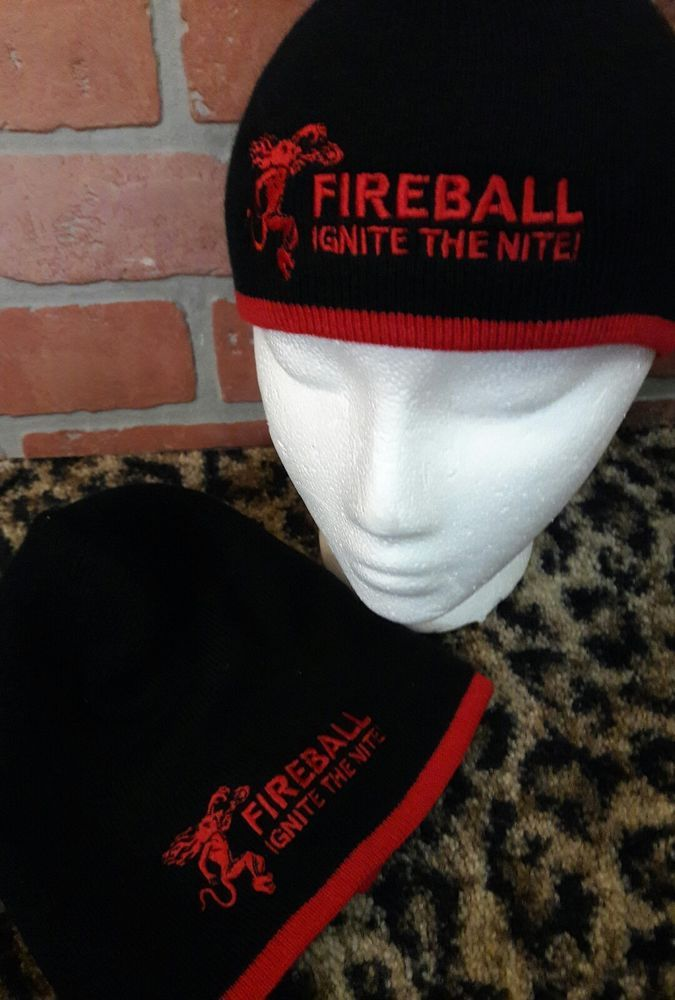 Fireball Cinnamon Whisky Toboggan Beanie Ski Winter Black Cap Sweater Knit  Hat  FireballCinnamonWhisky  Beanie 89628065c54