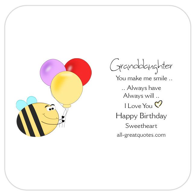 Granddaughter you make me smile always have always will i very special free birthday cards for granddaughter bookmarktalkfo Images