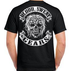 Top-T Goldwing Retro Unique Print Mens Black T Shirt