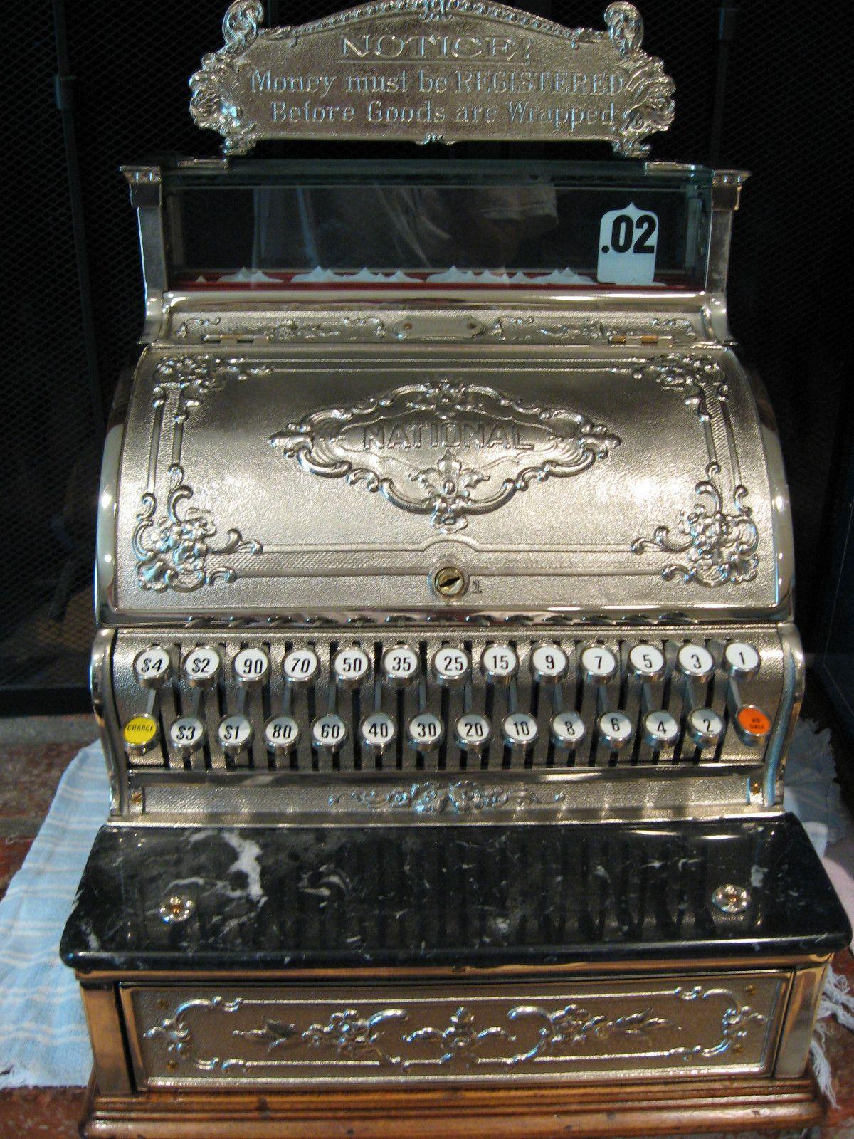 National Cash Register Model 344 Brass Restored Dayton