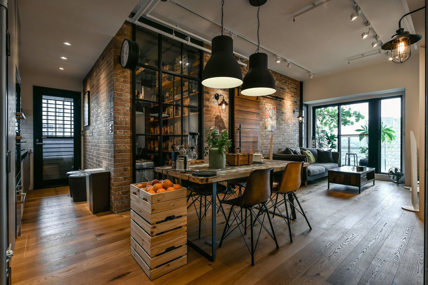Charming industrial loft in new taipei city idesignarch for Apartment interior design mysore