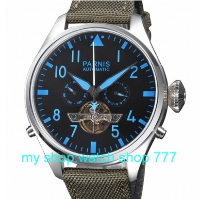 96.90$  Watch here - http://ali1sd.worldwells.pw/go.php?t=32260862983 - 47mm Big dial parnis brand Automatic Self-Wind machinery movement  Mechanical watches Men's watches wholesale o45