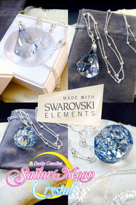 d2b0a57ac Swarovski Sailor Moon Silver Crystal Necklace Millennium Sterling Silver  925…