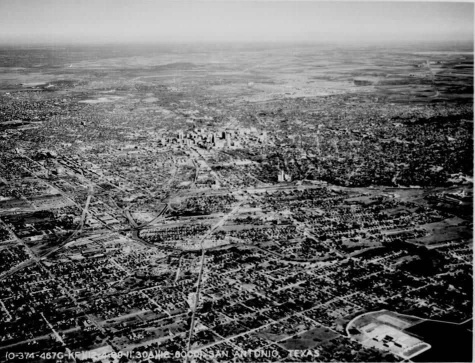 Aerial View Of San Antonio Tx And The Surrounding Plains Dec