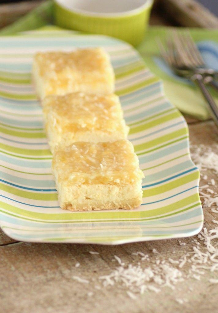 Pina Colada Cheesecake Squares