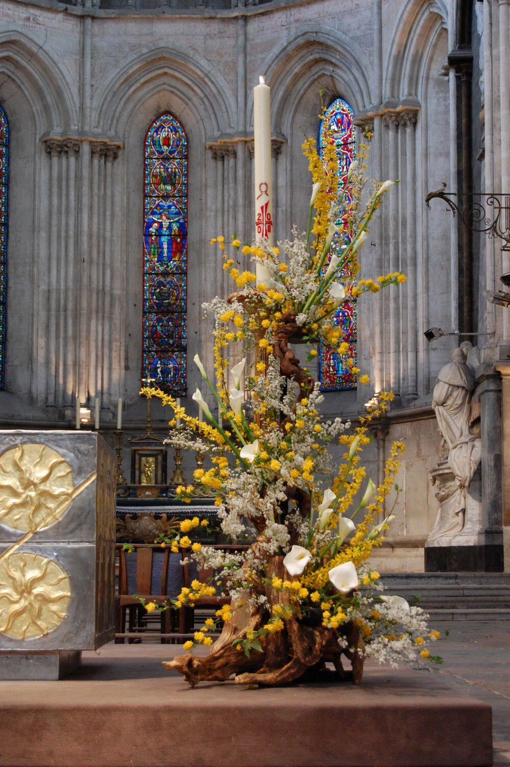 Stunning floral arrangement for church decor