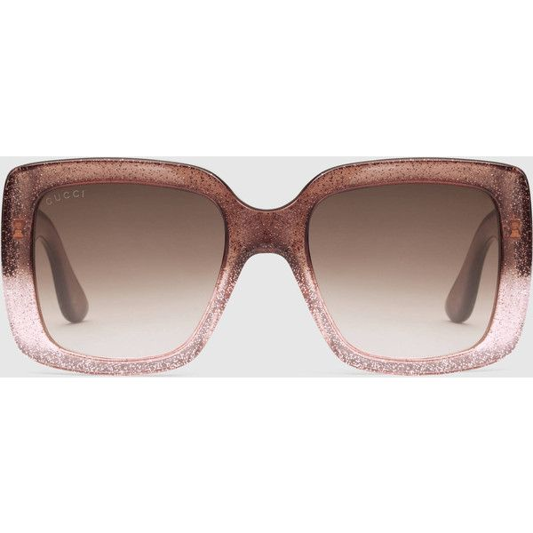 2231ccac1c5 Gucci Square-Frame Optyl Sunglasses ( 265) ❤ liked on Polyvore featuring  accessories