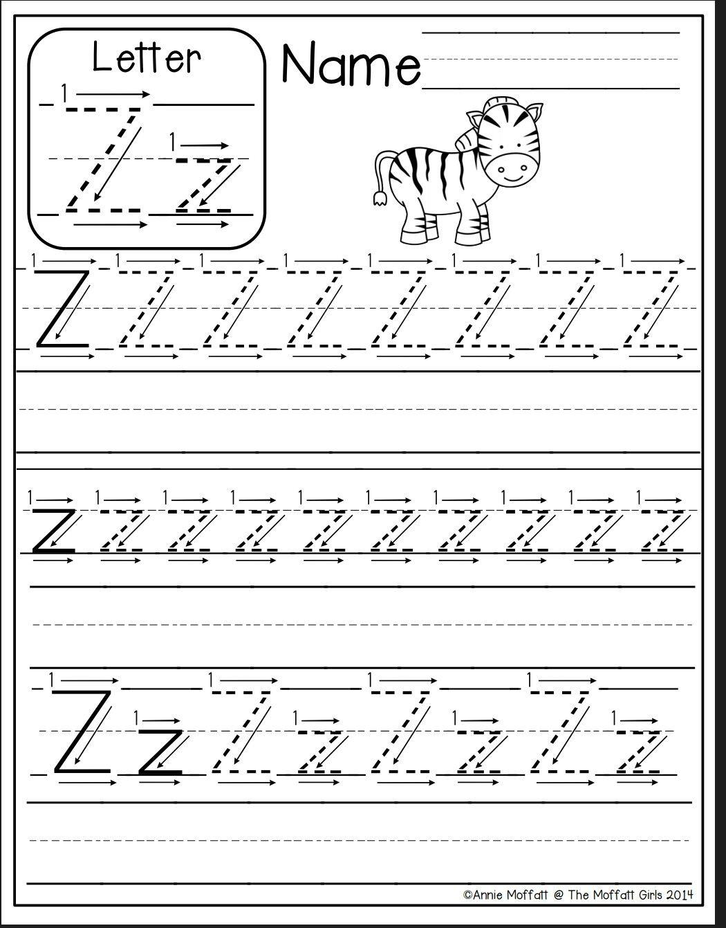 Letter Z Worksheet Preschool Writing Preschool Worksheets Alphabet Preschool