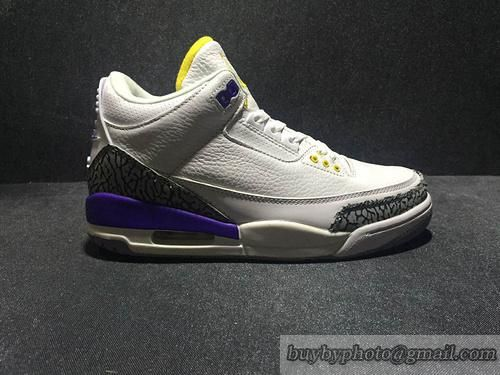 new arrival eb05a 7033d Mens Nike Air Jordan 3 AJ3 Jordan Iii Mens Basketball Shoes 100% Original  White Purple only US 119.00 - follow me to pick up couopons.