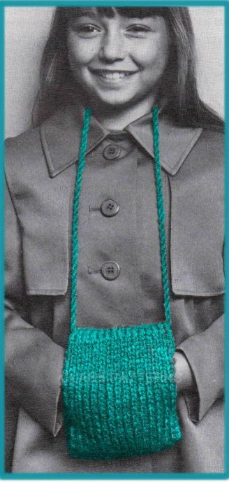 knitting, pattern, muff, hand warmer, vintage girl\'s Muff, knitting ...