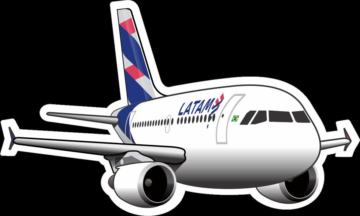 Airbus A319 Latam Aircraft Sticker Aircraft Airbus Stickers [ 711 x 1183 Pixel ]