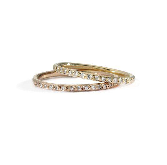 slim round white diamond band | blanca monrós gómez