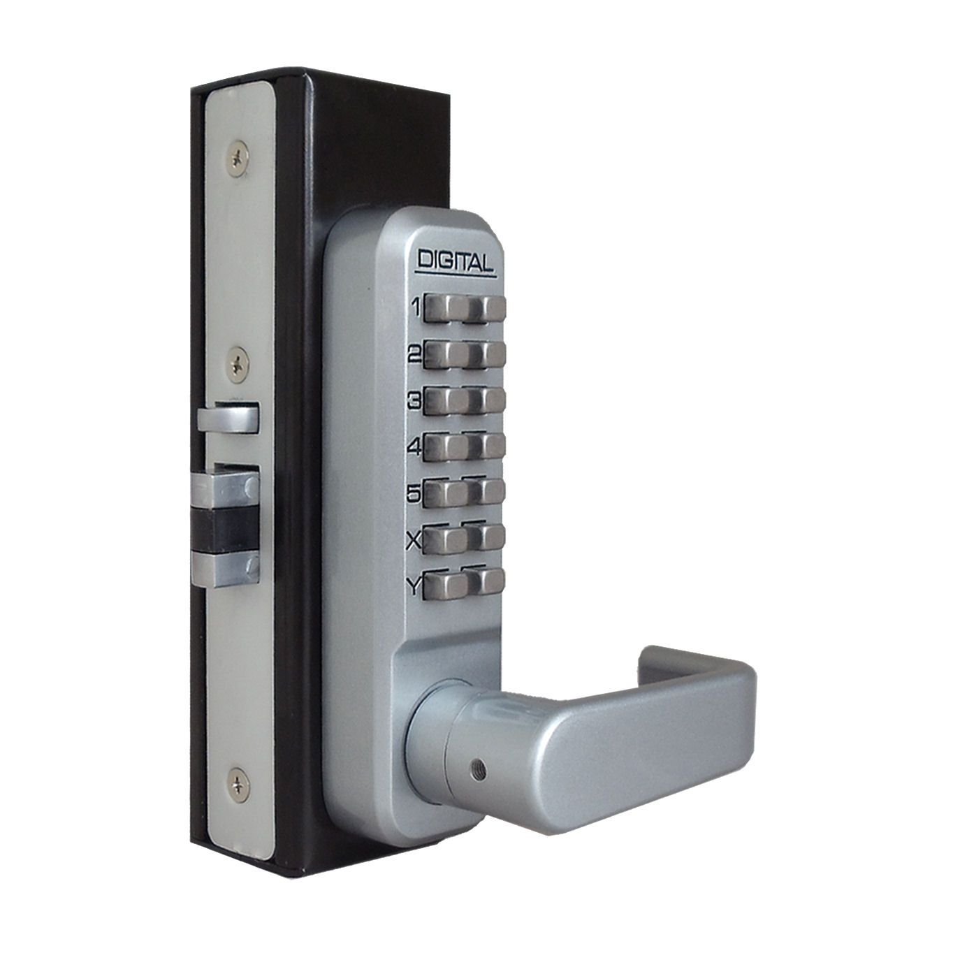 Lockey 2985dc Narrow Stile Double Combination Lock Keyless Door Lock Digital Door Lock Smart Door Locks