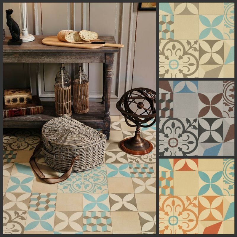 Details about Moroccan Style Vinyl Flooring Sheet Lino Non
