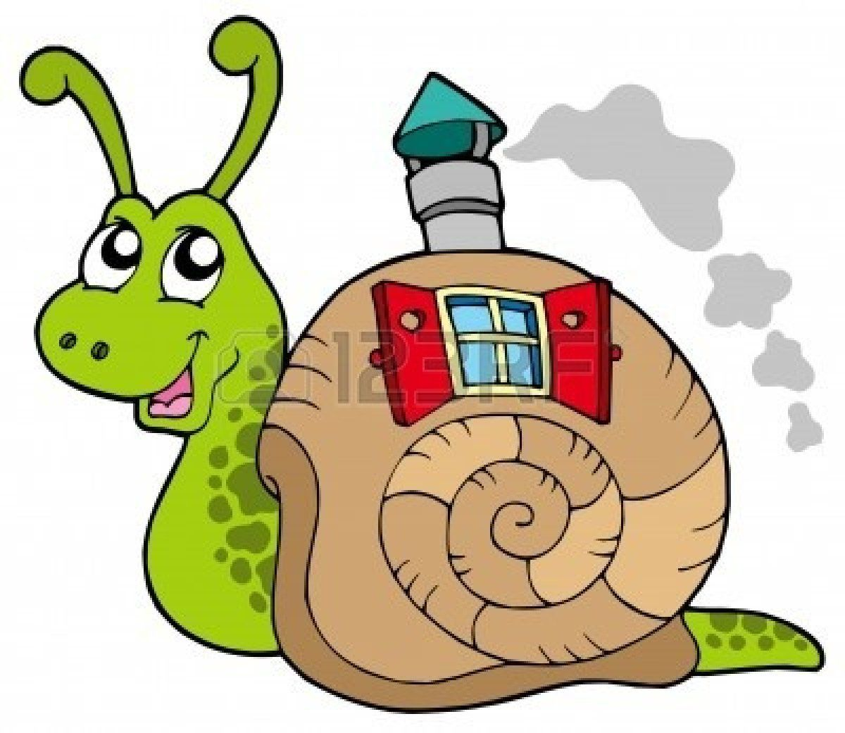 4928378 Snail With Shell House Vector Illustration Jpg 1200 1041 Baby Animal Drawings Snail Art Shell House