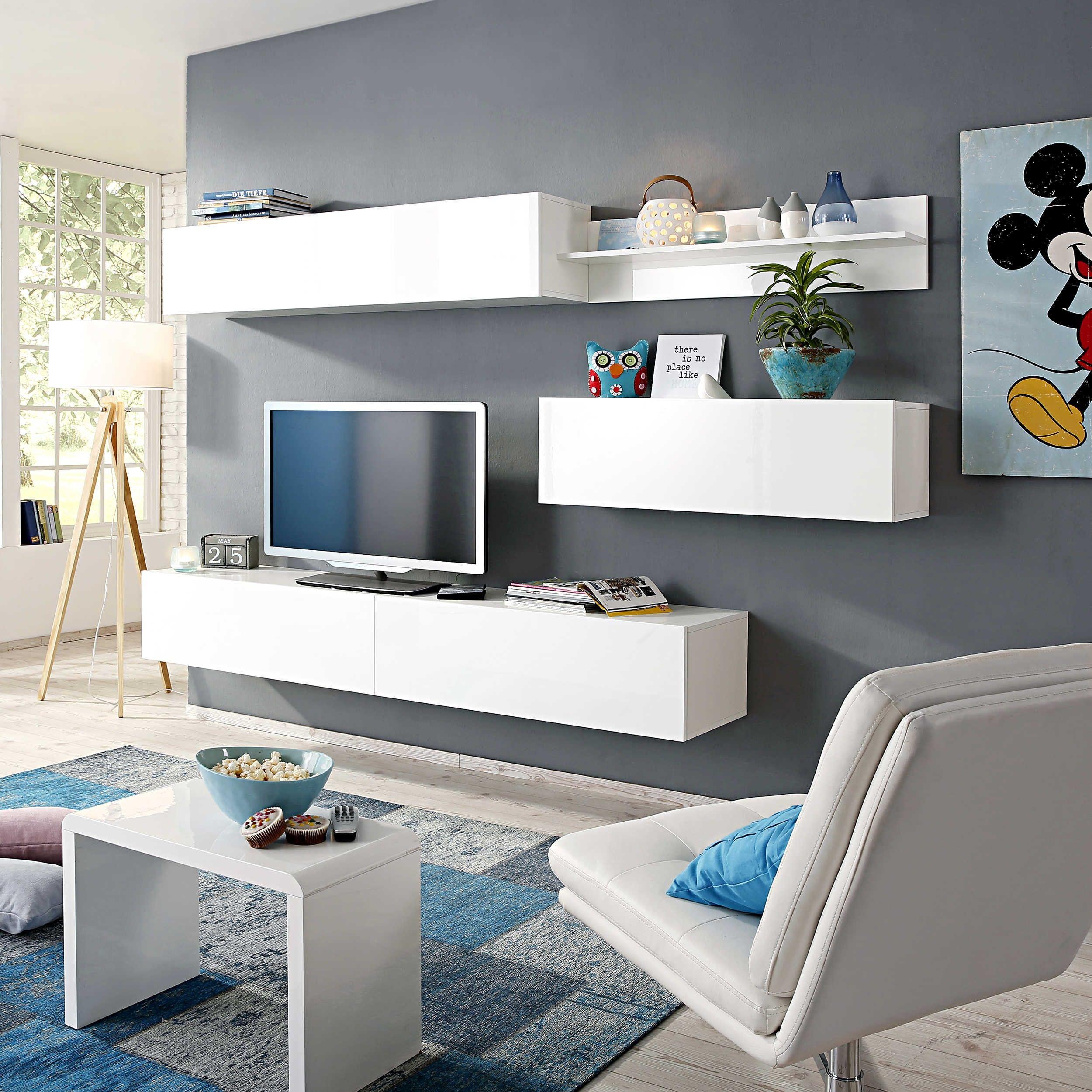 wohnwand new paint - wohnwände - wohnwände & tv-lowboards ... - Bar Wohnzimmer Möbel
