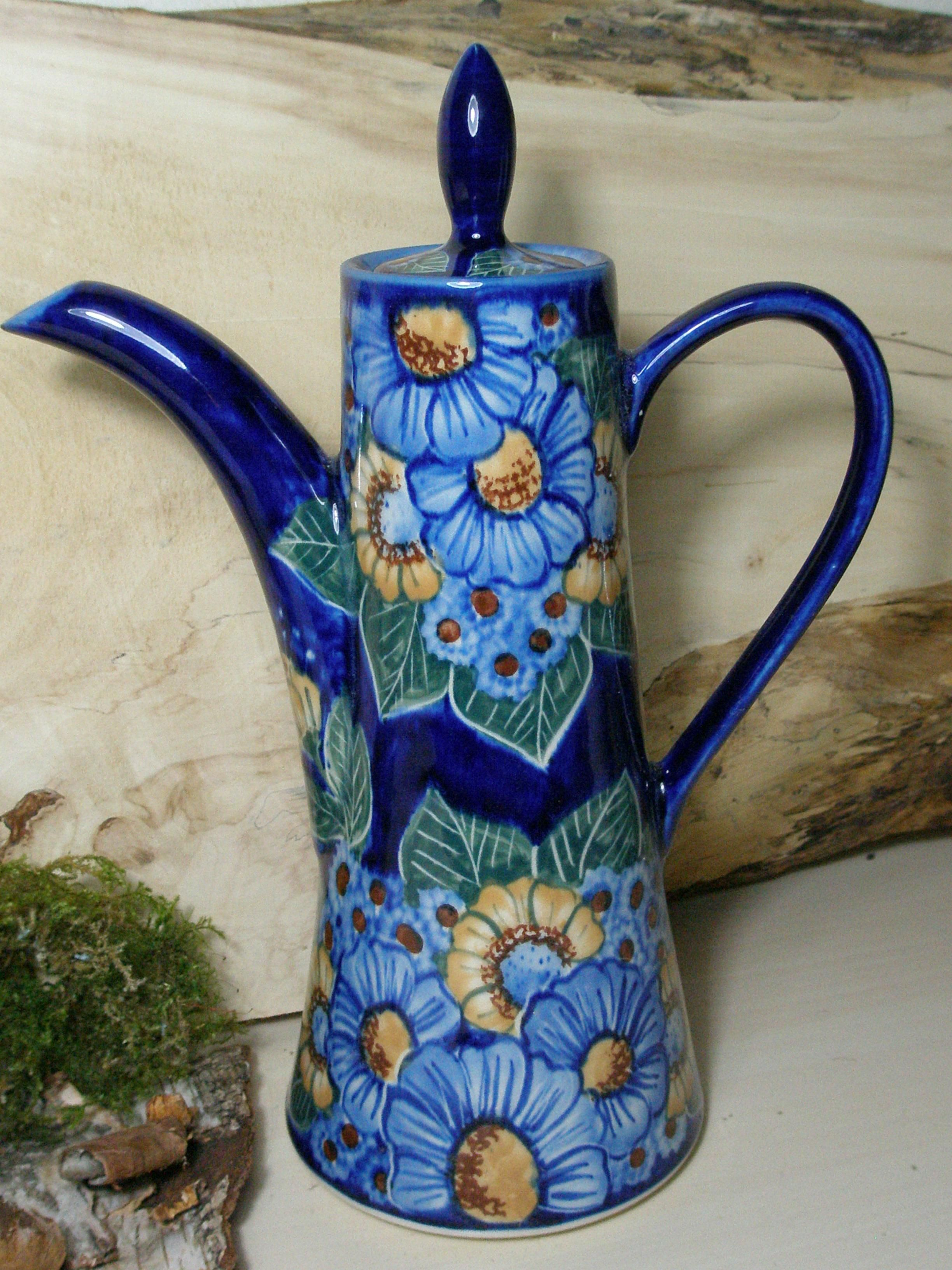"""This is how a true """"coffee pot"""" looks like! Polish pottery"""
