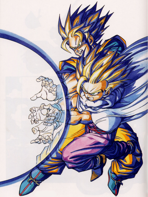 Goku And Gohan Father Son Kamehameha Anime Dragon Ball Dragon