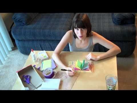 How to make a simple homemade journal from index cards dental floss how to make a simple homemade journal from index cards dental floss and a cereal box ccuart Images