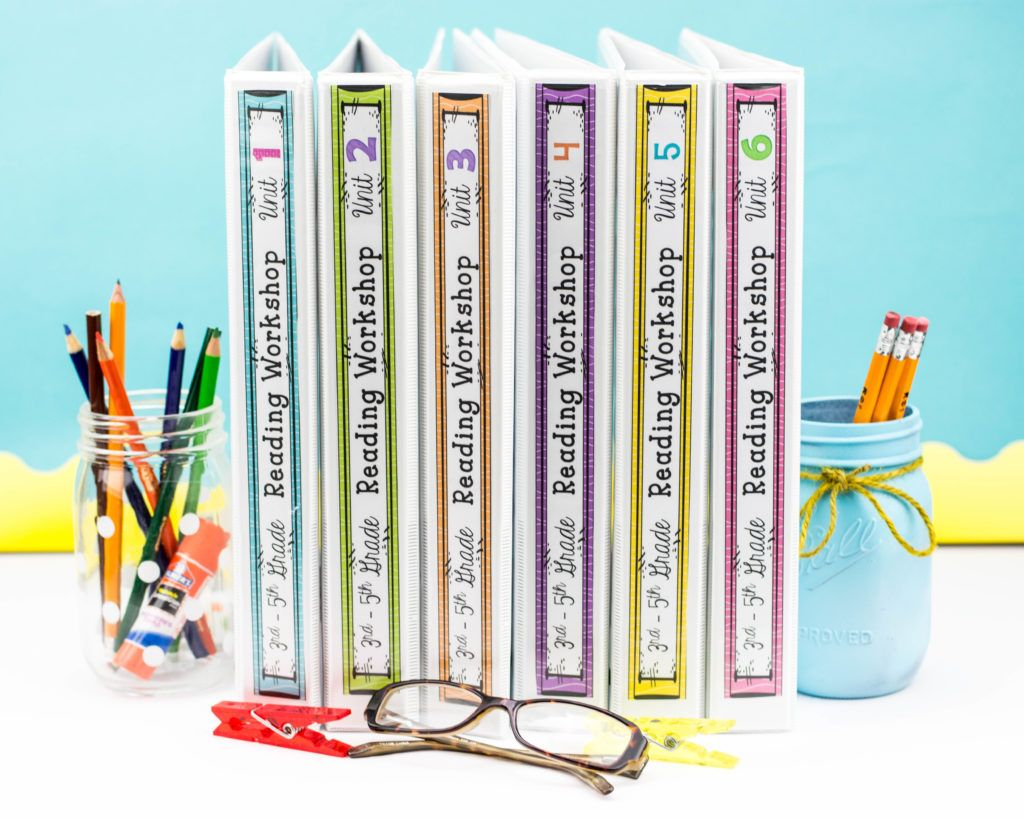 Get FREE spine inserts for your reading units, writing units, math units, and grammar units!