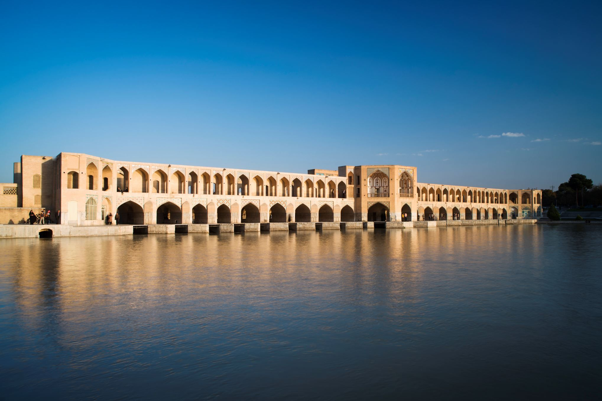 Tim Gerard Barker/Getty Images Khaju Bridge, Isfahan, Iran This 17th-century structure is both a dam and a bridge; once the king would sit in the pavilion in the bridge's center.