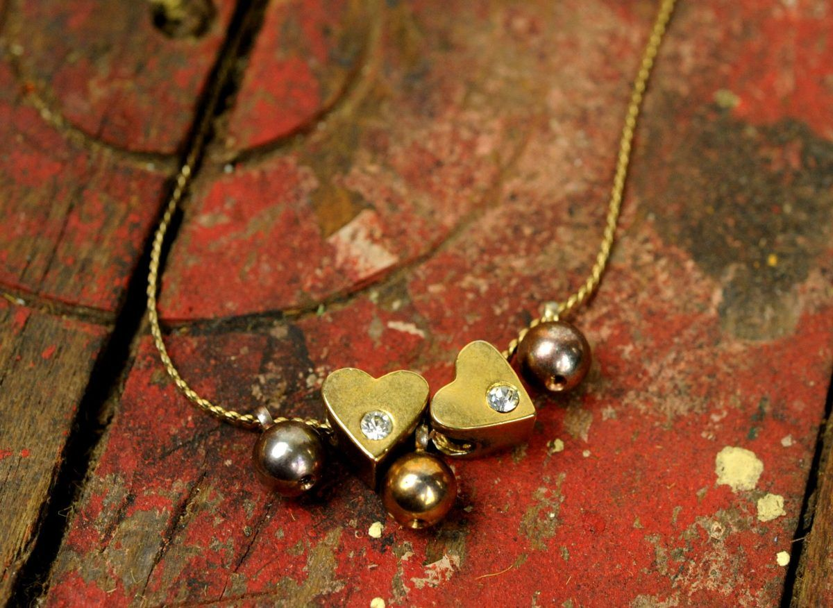 fef2b384382e9 Totally '80s retro heart necklace (1/20 gold filled) in 2019 ...