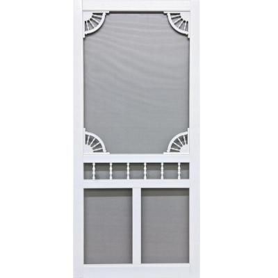 Screen Tight Riverside 30 In X 80 In Vinyl Screen Door Rvs30 At The Home Depot Home
