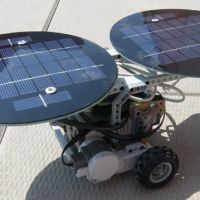 Power your NXT robot with solar panels