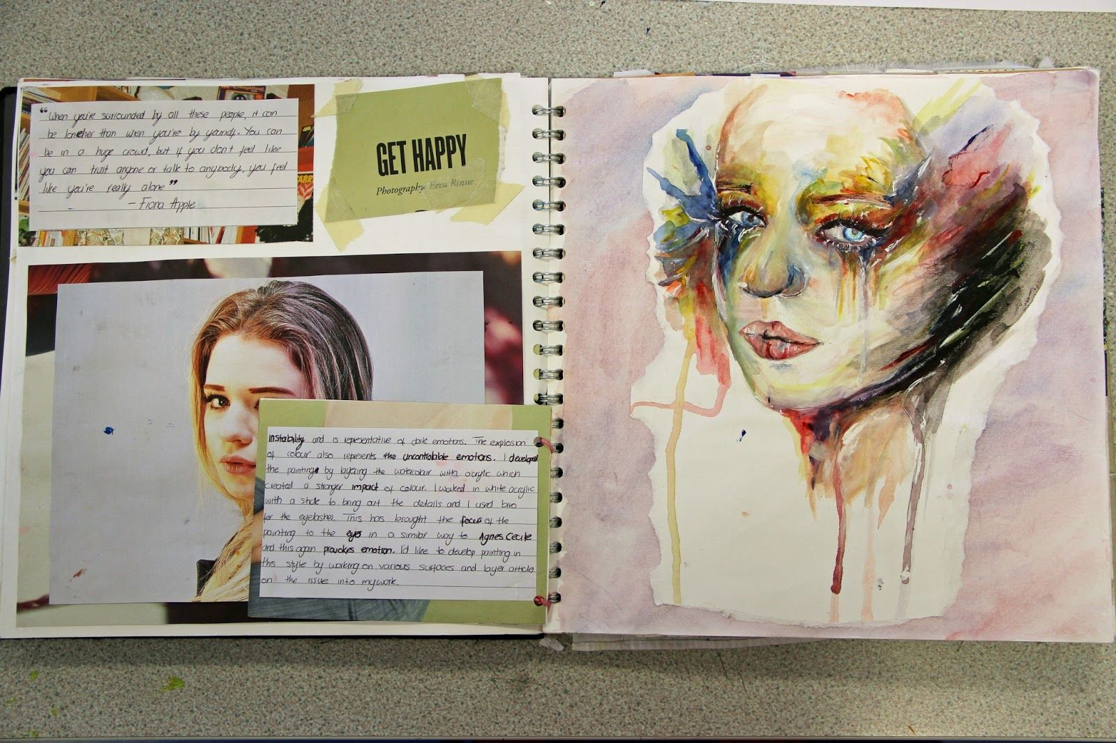 Artist Research Page Layout Art Art Design Art Diary