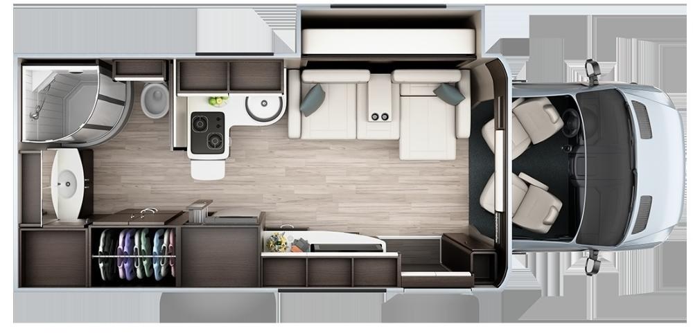 2020 Leisure Travel Vans Unity Mb Murphy Bed B Van Fretz