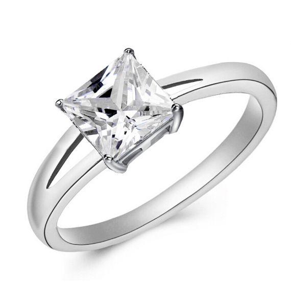 G38 새로운 디자인 고귀한 골드 도금 화이트 크리스탈 CZ 약혼 반지 여성 보석 고품질 무료 배송